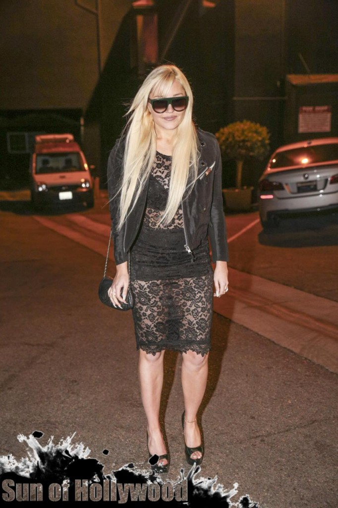Amanda Bynes Gets Festive With Diana Madison At Obsev Studios Holiday Party
