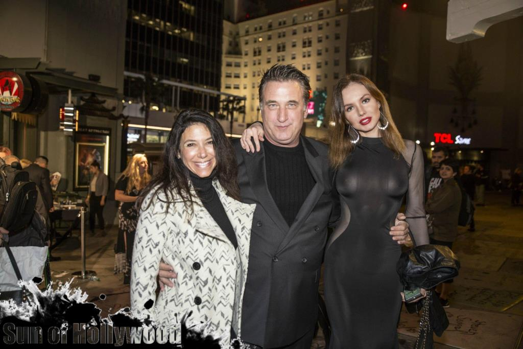 Daniel Baldwin with his wife Joanne Smith & Yuliya Lasmovich