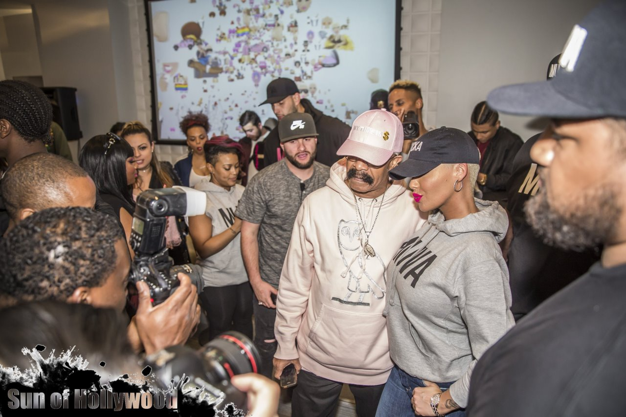 amber rose muva moji emoji launch party dave n busters hollywood highland dennis graham drake too short trinidad james mally mall garry sun prophecy sunofhollywood 37