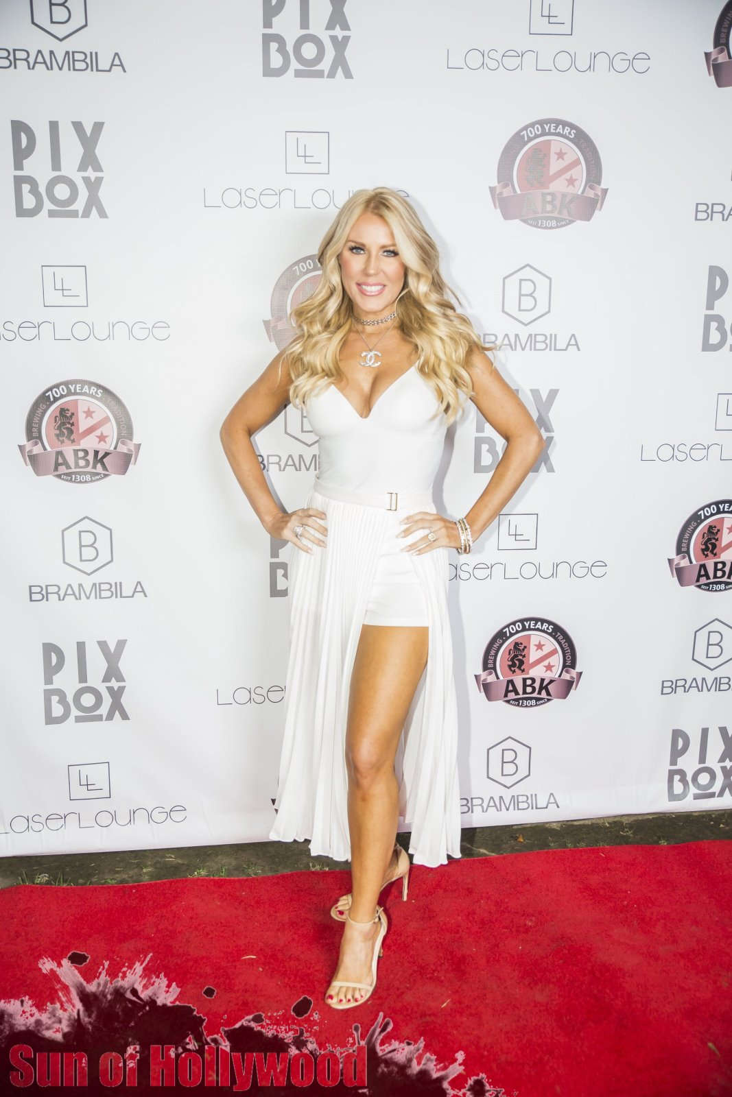 Gretchen Rossi Got That White Gold Shimmer