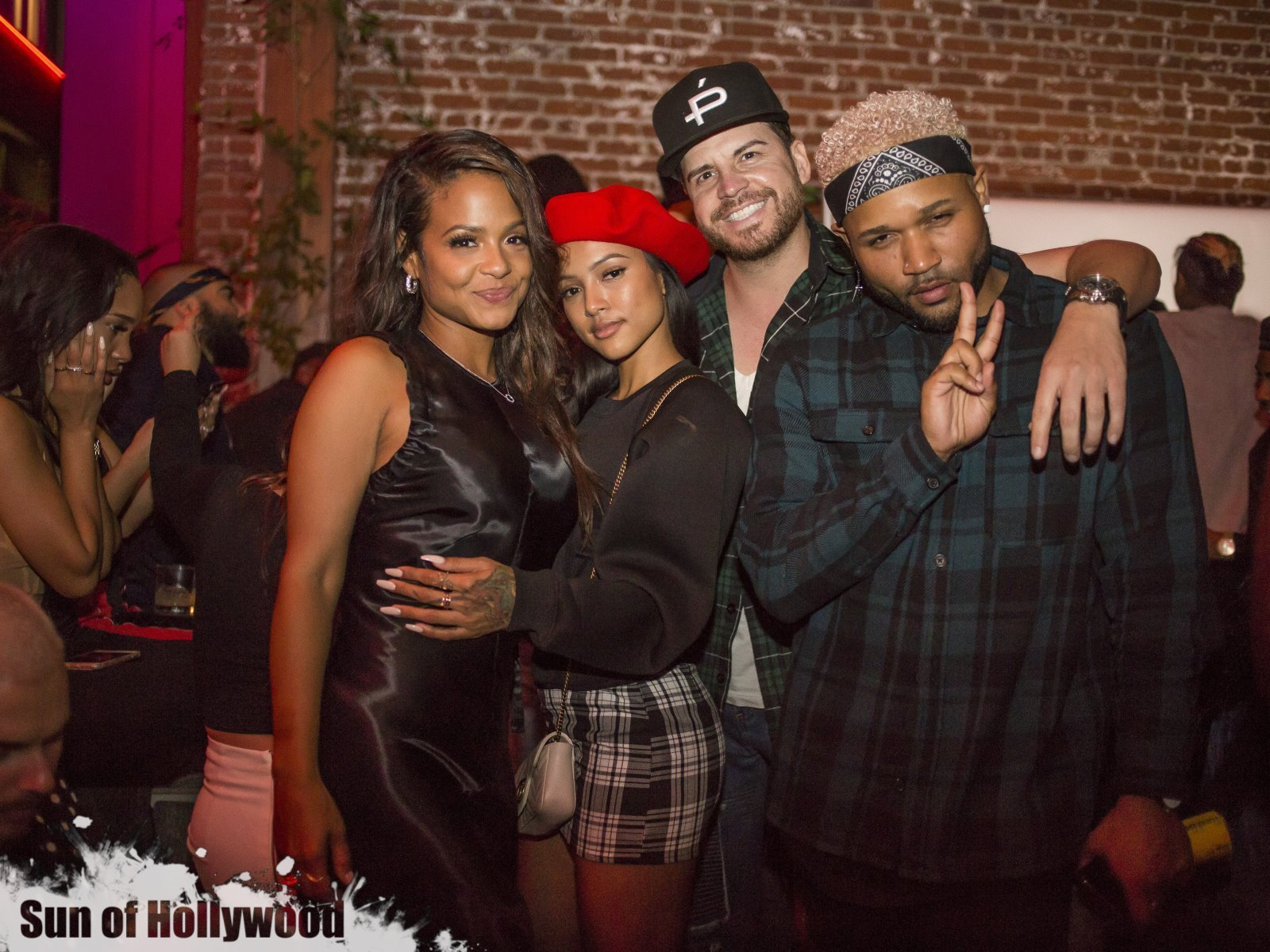 The Git It Krackin Krew : Christina Milian, Karrueche Tran, Dave O & J Ryan